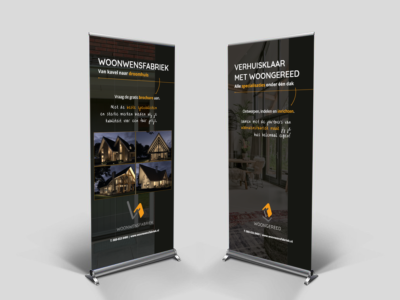roll up banner Woonwensfabriek